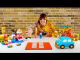 Умные машинки и СУШИ Плей До - видео с Машей Капуки Кануки. Делаем еду из пластилина