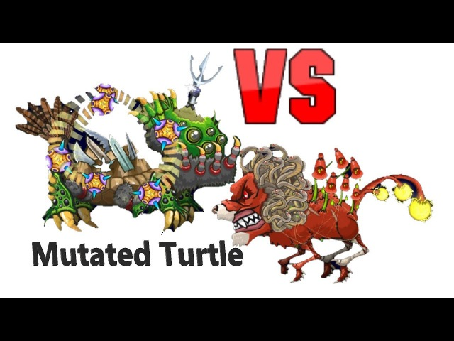 Mutant Fighting Cup 2 Turtle - Lion with lanterns and snakes (Africa Cup 1-5) Turtle Part 196