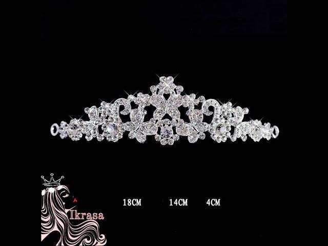 Блискуча ніжна квіткова тіара відео обзор Україна купить корону діадему