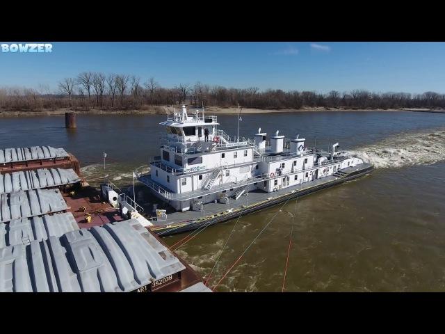 The MV John H. MacMillan, Jr. Pushing 40 Barges