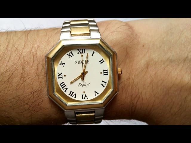 Мужские наручные часы Siecle Zephyr. Примерка.