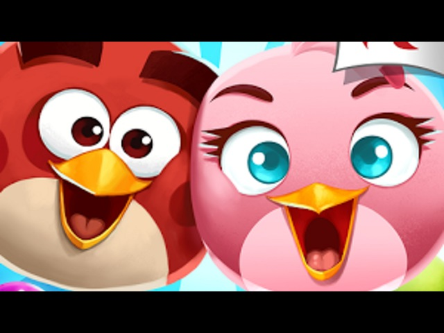 Обзор игры Angry Birds POP (Злые Птички: ПОП) Лопаем пузырьки :D