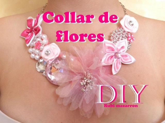 Diy. Collar de flores super de moda