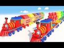 Воздушные шарики. Учим цвета для детей. Развивающее видео. Мороженое деткам. Паровозик Олли