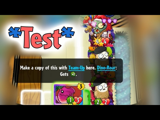 *Test* Hunt Zombie with Veloci-Radish Imitater Pair Pearadise - PvZ Heroes