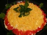 Слоеный салат с крабовым мясом