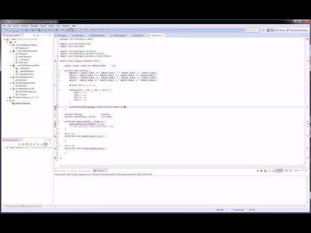 Пишем игру на Java(Ява) - Клон Танков - Класс Player и Entity - [10]