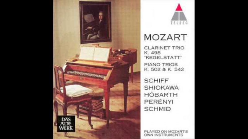 Mozart. Clarinet trio Kegelstatt. KV 498. Played on Mozarts own instruments.