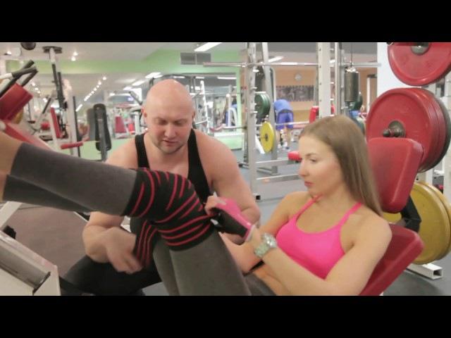 Жим ногами в тренажере для девушек для ягодиц Женская тренировка Вариант с выс ...
