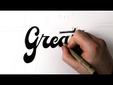 Hand Lettering Tutorial How To Outline Lettering