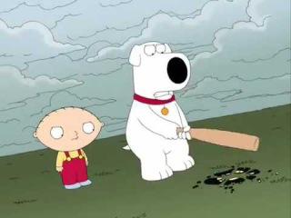 Гриффины - Стьюи и Брайан разбивают пластинку Питера