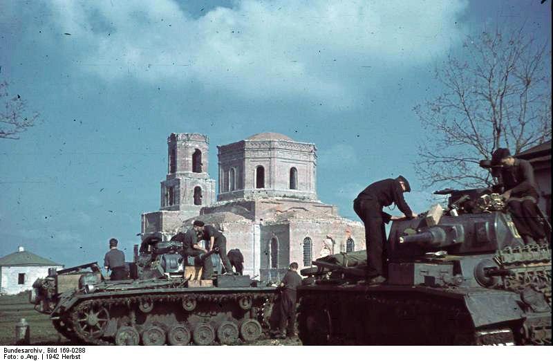 Немцы в Полтаве, сентябрь 1942 года.