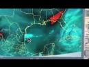 Analyse wie der Hurrikan gelenkt wird.