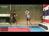 Джит Кун До - круговой удар ногой