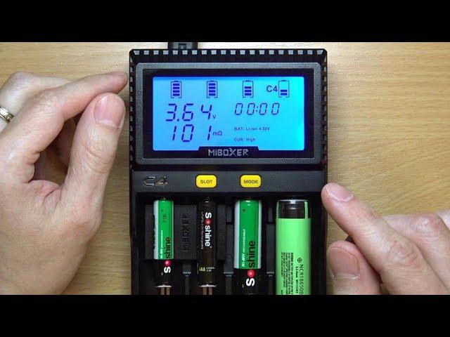 Miboxer C4 - новое зарядное устройство 2017. Сравнение с Opus BT-C3100 v2.2.