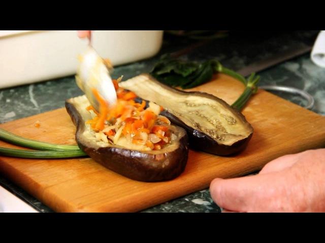 Вкусные фаршированные баклажаны - рецепт