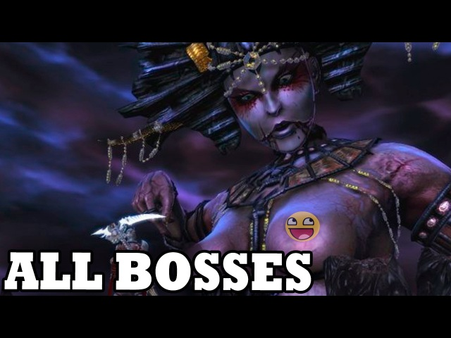 Dante's Inferno All Bosses With Cutscenes HD
