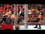 Big Cass, Luke Gallows &amp Karl Anderson attack Big Show's hand Raw, Aug. 14, 2017