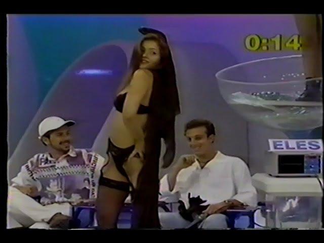 Nana Gouvea e Luciano Huck - Domingo Legal (1997)