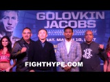 GENNADY GOLOVKIN AND DANIEL JACOBS COME FACE TO FACE FOR INTENSE STAREDOWN