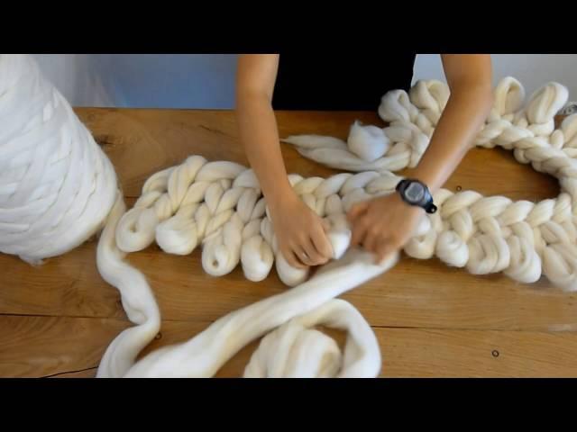 Filart przedstawia- jak wykonać pled z wełny czesankowej