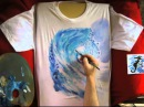 Hand Painted T shirt n 164 Stop Motion Painting Animation by Umberto Pigoni