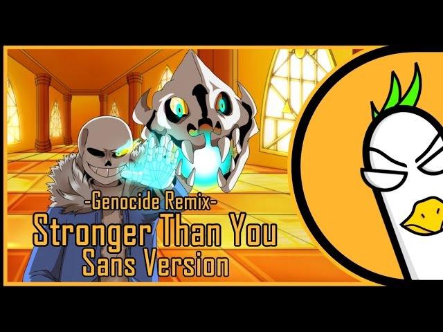 【Undertale】Stronger Than You -Genocide Remix- (Sans version) [RUS COVER На русском]