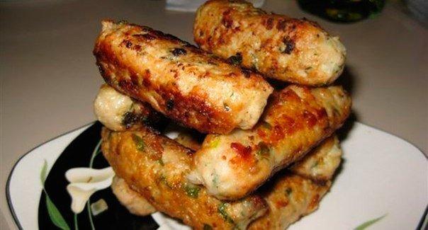 Куриные колбаски