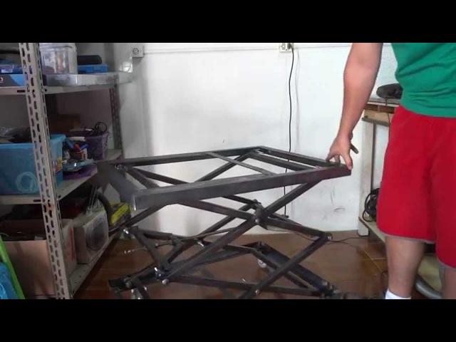Mesa Carrinho Dobrável - Scissor Lift Table Cart