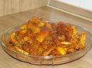 Жареные рёбрышки с картошкой