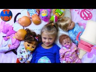 Playing Baby Born Reborn Dolls Играем с Куклами Беби Бон укладываем спать Малышей Видео для д...