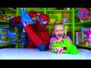 Spiderman. Ярослава и Человек Паук. Игры для детей. Акула Челендж! Tiki Taki Kids
