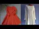 Вязаное платье спицами в стиле Шамони Часть первая Схема knit dress