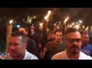 #Unite The Right Torchlit March Towards Lee Park Through #Charlottesville, VA - #Virginia