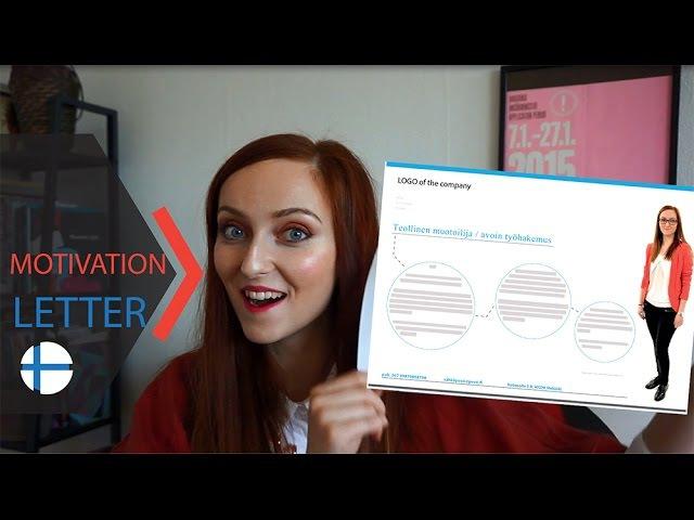 КАК ПИСАТЬ мотивационновое письмо ? Трудоустройство в Финляндии работавфинляндии