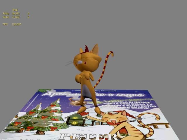 Кот Astrocat (Италия). Анимация для дополненной реальности проекта компании Devarkids