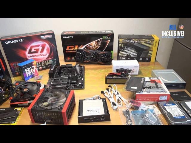 Сборка ГЕЙМЕР ПК GAMING PC RED MONSTER i7 6700K GeForce GTX 1070 1500,- Евро OC G1 и.т.д