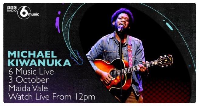 Британский соул-певец Michael Kiwanuka выступит перед слушателями 6 Music Live
