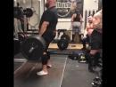 Лоуренс Шахлае, тяга 300 кг на 3 раза