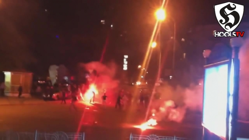 Hooligans Fight _ Bad Blue Boys vs Spartak Moscow in Kiev 2012