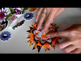 Helloween DIY_ Ободок Привидение с тыковкой _ Headband Ghost with pumpkin