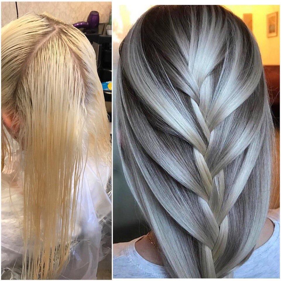 Тонирование волос блондинок фото