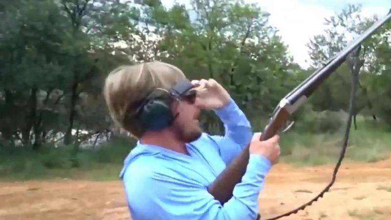 Мощный выстрел