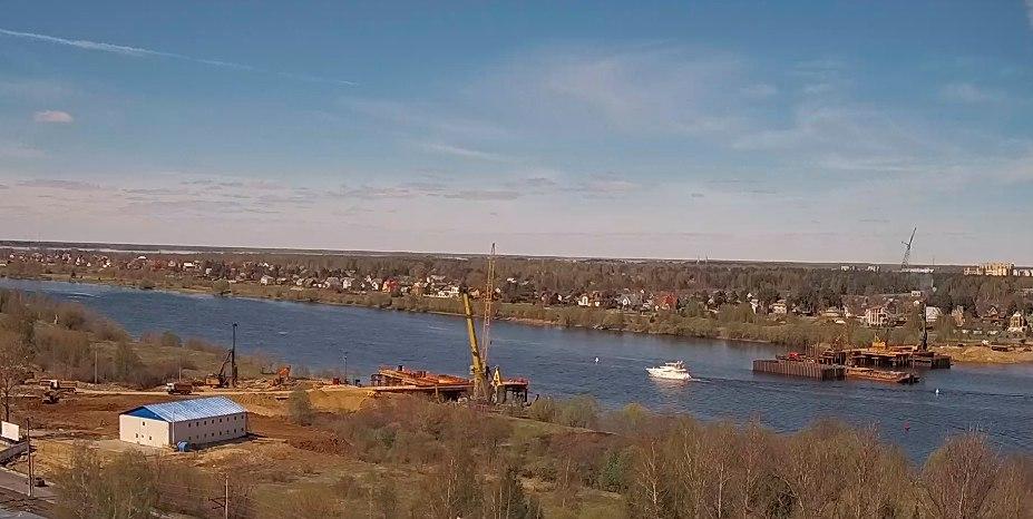 В Дубне началось сооружение русловых опор моста через Волгу   Видео