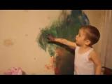 Идеальная реакция мамы на разрисованную стену