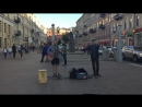 кавер Rasmus - Living In A World Without You (The Railroads, уличные музыканты, Питер)
