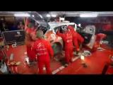 Механики Citroen за три часа приводят в рабочее состояние перевернувшийся гоночный болид