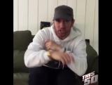 Бородатый Эминем поздравляет 50 Cent с днём рождения, читая его же куплет