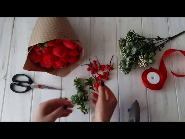 Букет из конфет своими руками мастер класс/Master Class - floral bouquet with candy