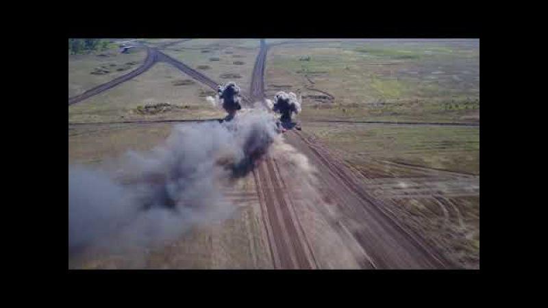 Танковый биатлон в ДНР с высоты птичьего полета